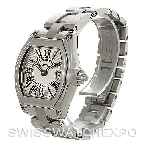 4087 Cartier Roadster Ladies Stainless Steel Silver Dial Watch W62016V3 SwissWatchExpo