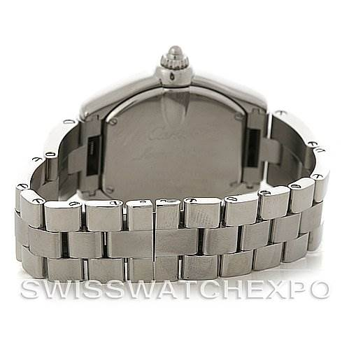 4159 Cartier Roadster Ladies Stainless Steel Silver Dial Watch W62016V3 SwissWatchExpo
