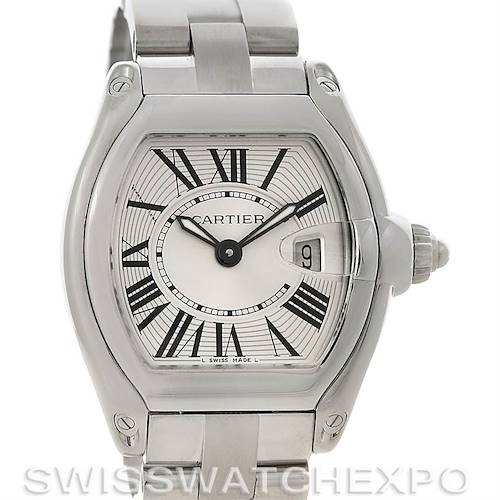 Photo of Cartier Roadster Ladies Stainless Steel Silver Dial Watch W62016V3