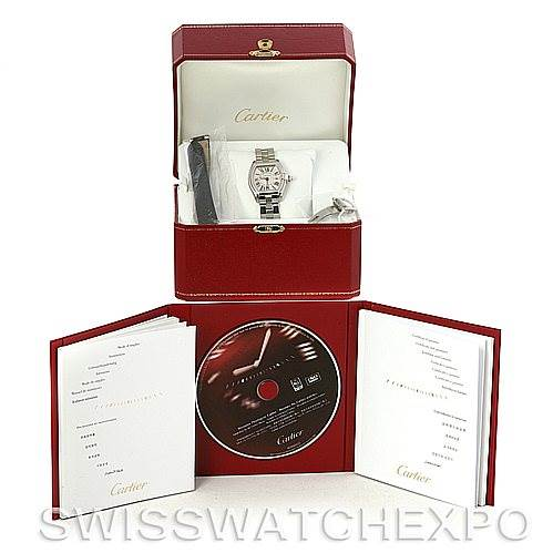 4393 Cartier Roadster Ladies Stainless Steel Silver Dial Watch W62016V3 SwissWatchExpo