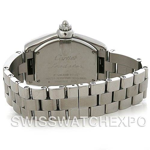 4381 Cartier Roadster Ladies Stainless Steel Silver Dial Watch W62016V3 SwissWatchExpo