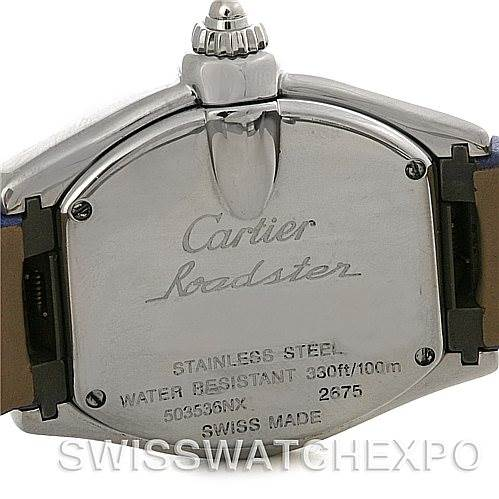 4550 Cartier Roadster Ladies Mother of Pearl Dial Steel Watch W6206007 NOS SwissWatchExpo