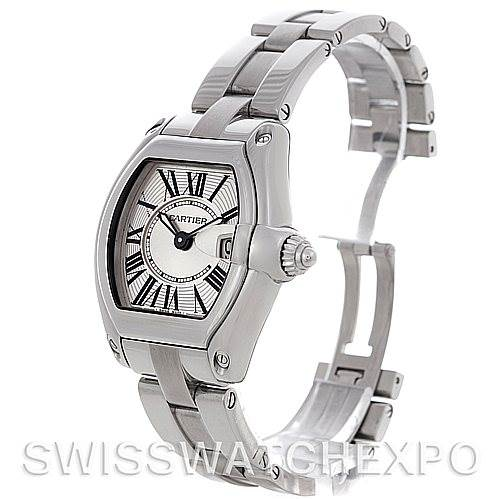 4549 Cartier Roadster Ladies Stainless Steel Silver Dial Watch W62016V3 SwissWatchExpo