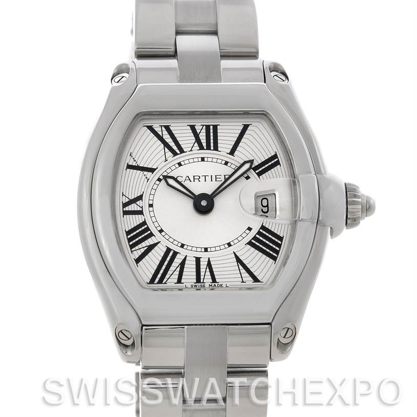 4776 Cartier Roadster Ladies Steel Watch W62016V3 SwissWatchExpo