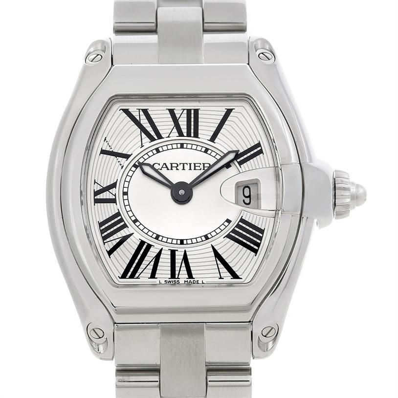 4991  Cartier Roadster Ladies Steel Watch W62016V3 SwissWatchExpo