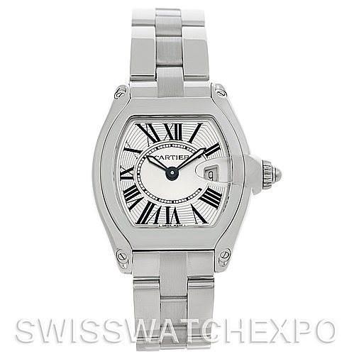 5019 Cartier Roadster Ladies Steel Watch W62016V3 SwissWatchExpo
