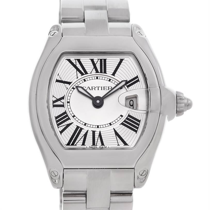5021 Cartier Roadster Ladies Steel Watch W62016V3 SwissWatchExpo