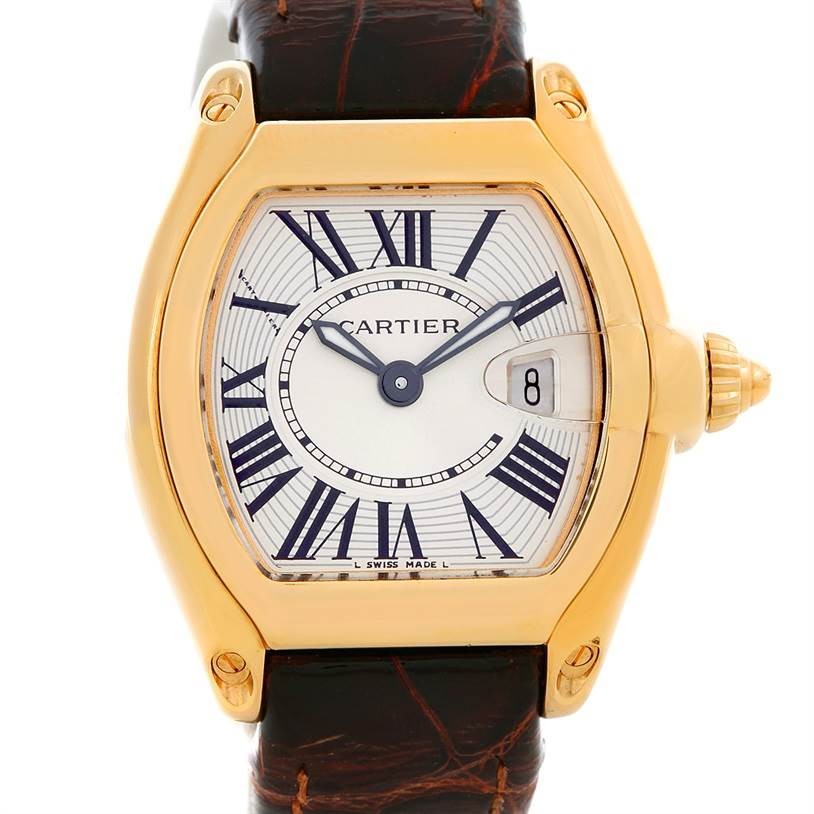 5062 Cartier Roadster Ladies 18K Yellow Gold watch W62018Y5 SwissWatchExpo