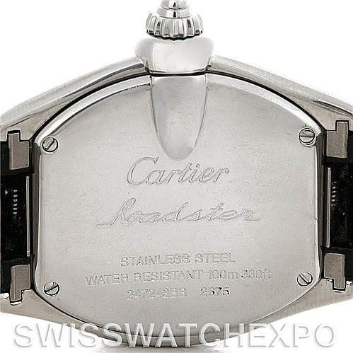 5021A Cartier Roadster Ladies Steel Watch W62016V3 SwissWatchExpo