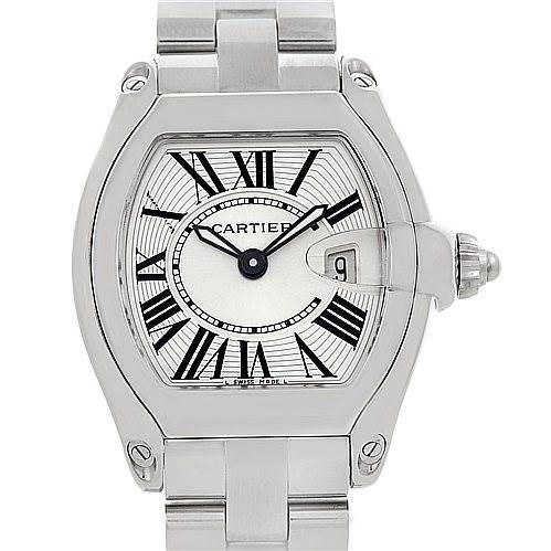 5255 Cartier Roadster Ladies Steel Watch W62016V3 SwissWatchExpo