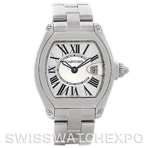 5482 Cartier Roadster Ladies Steel Watch W62016V3 SwissWatchExpo