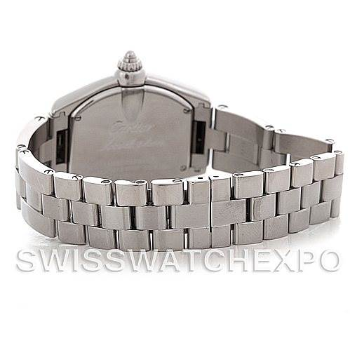 5482 Cartier Roadster Ladies Steel Watch W62016V3 SwissWatchExpo