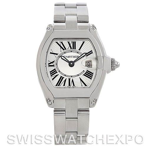 5766 Cartier Roadster Ladies Steel Watch W62016V3 SwissWatchExpo