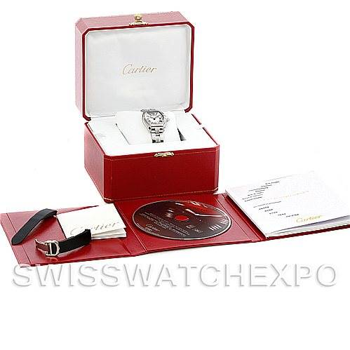 5766 Cartier Roadster Ladies Steel Watch W62016V3 SwissWatchExpo