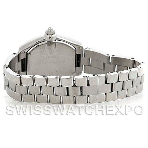 5993 Cartier Roadster Ladies Steel Watch W62016V3 SwissWatchExpo
