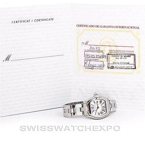 6277 Cartier Roadster Ladies Steel Watch W62016V3 SwissWatchExpo