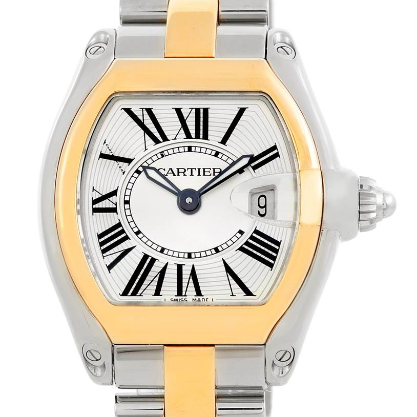 6463 Cartier Roadster Ladies Steel Watch W62026Y4 SwissWatchExpo