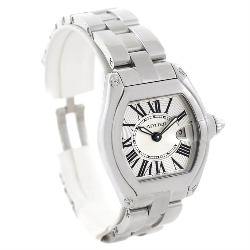 6637 Cartier Roadster Ladies Steel Watch W62016V3 SwissWatchExpo