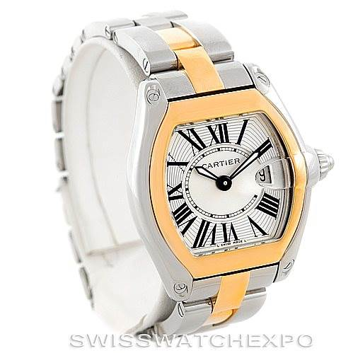 6847 Cartier Roadster Ladies Steel Watch W62026Y4 SwissWatchExpo
