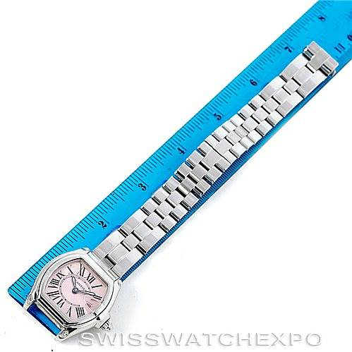 6502 Cartier Roadster Ladies Pink Dial Watch W62017V3 SwissWatchExpo
