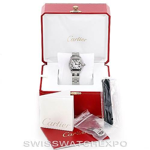6876 Cartier Roadster Ladies Steel Watch W62016V3 SwissWatchExpo