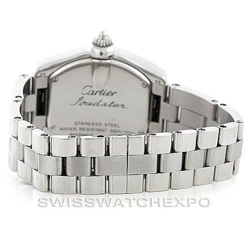 6905 Cartier Roadster Ladies Steel Watch W62016V3 SwissWatchExpo