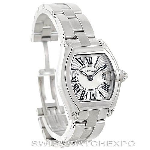 6923 Cartier Roadster Ladies Steel Watch W62016V3 SwissWatchExpo