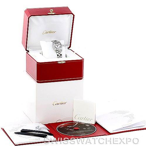 7138 Cartier Roadster Ladies Steel Watch W62016V3 SwissWatchExpo