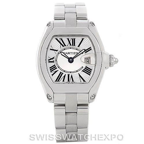 7138 Cartier Roadster Ladies Steel Watch W62016V3 SwissWatchExpo