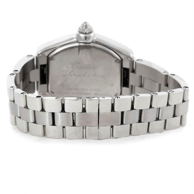 7297 Cartier Roadster Ladies Steel Watch W62016V3 SwissWatchExpo