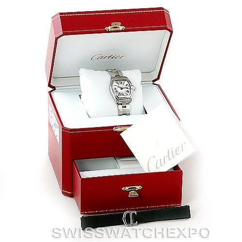 7295 Cartier Roadster Ladies Steel Watch W62016V3 SwissWatchExpo