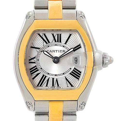 7713 Cartier Roadster Ladies Steel Watch W62026Y4 SwissWatchExpo
