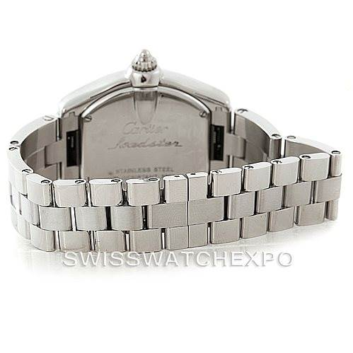 7805 Cartier Roadster Ladies Steel Silver Dial Watch W62016V3 SwissWatchExpo
