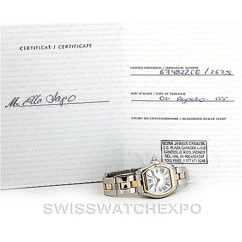 7818 Cartier Roadster Ladies Steel and Yellow Gold Watch W62026Y4  SwissWatchExpo