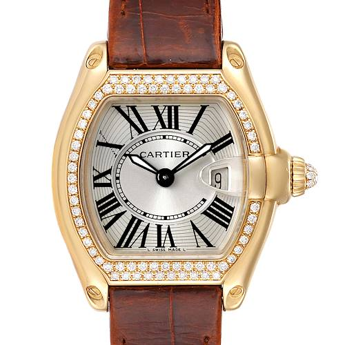 Photo of Cartier Roadster Ladies 18K Yellow Gold Diamond Watch WE500160