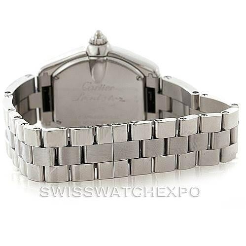 7831 Cartier Roadster Ladies Steel Watch W62016V3  SwissWatchExpo