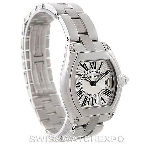 7831 Cartier Roadster Ladies Steel Watch W62016V3  SwissWatchExpo