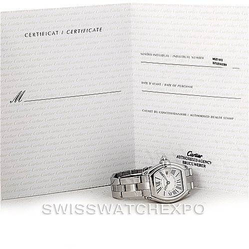 7880 Cartier Roadster Ladies Steel Watch W62016V3 SwissWatchExpo