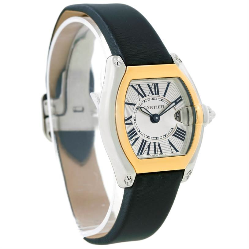 8735 Cartier Roadster Ladies Steel and Yellow Gold Watch W62026Y4 SwissWatchExpo