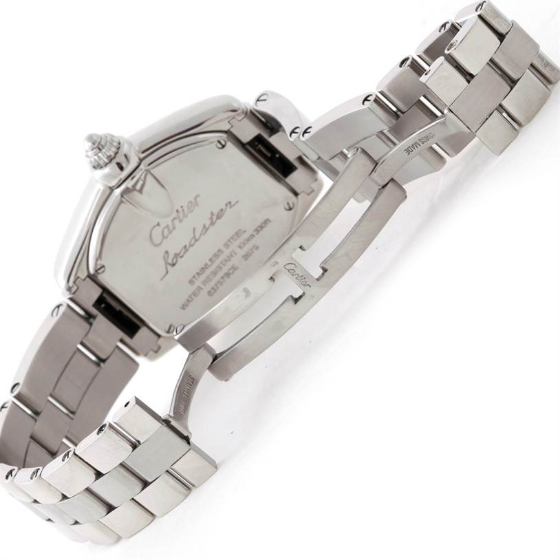 6986 Cartier Roadster Silver Dial Ladies Steel Watch W62016V3 SwissWatchExpo