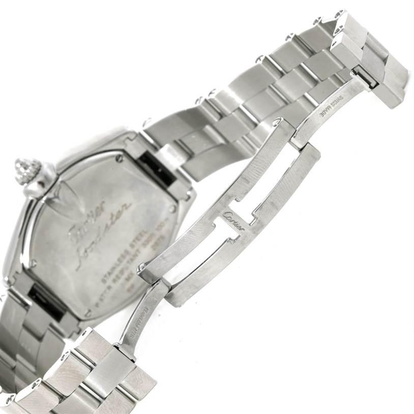 7469 Cartier Roadster Silver Dial Ladies Steel Watch W62016V3 SwissWatchExpo