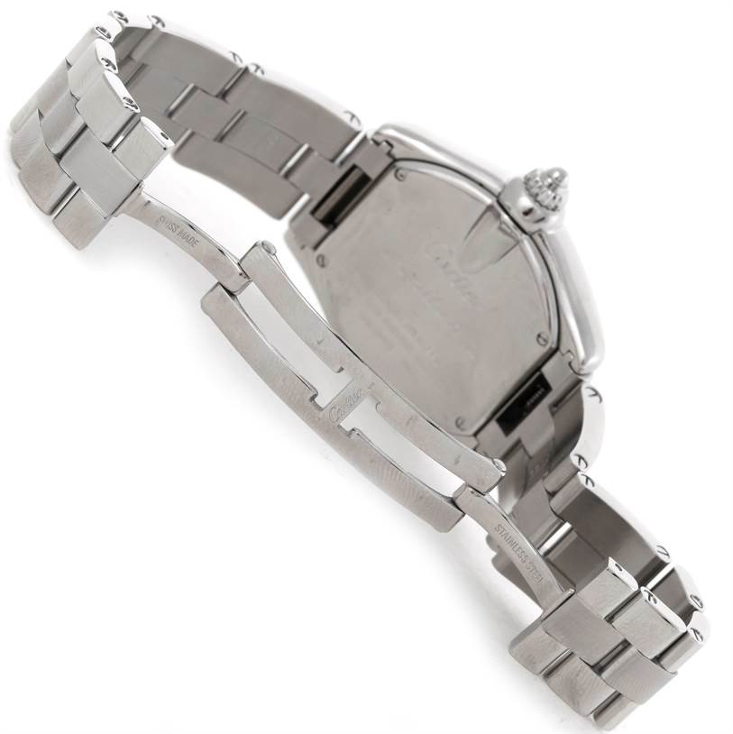 8007 Cartier Roadster Silver Dial Ladies Steel Watch W62016V3 SwissWatchExpo