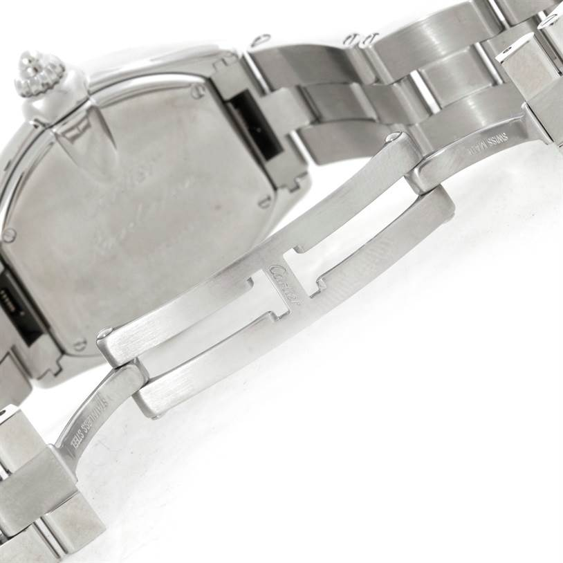 9350 Cartier Roadster Silver Dial Ladies Steel Watch W62016V3 SwissWatchExpo