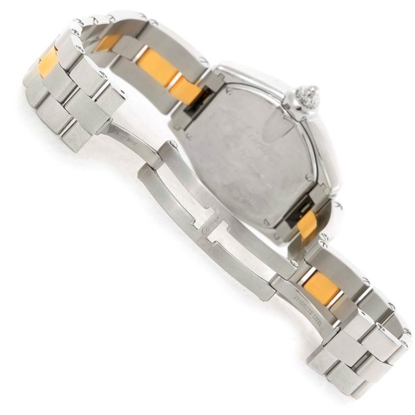 10014 Cartier Roadster Ladies Steel and Yellow Gold Watch W62026Y4 SwissWatchExpo