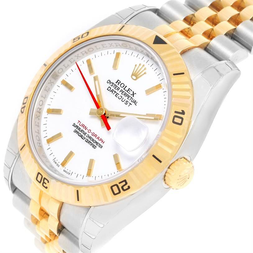 12592 Rolex Datejust Turnograph Steel 18k Yellow Gold Watch 116263 Unworn SwissWatchExpo