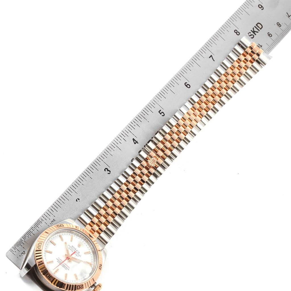 18619 Rolex Turnograph Datejust Steel Rose Gold Watch 116261 Box Papers SwissWatchExpo