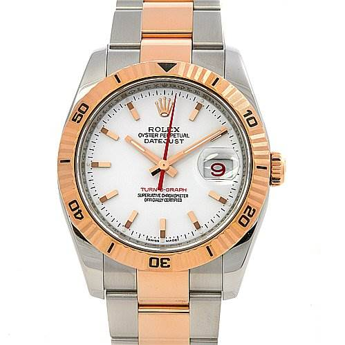 2378 Rolex Turnograph Ss 18k Rose Gold 116261 Year 2005 SwissWatchExpo