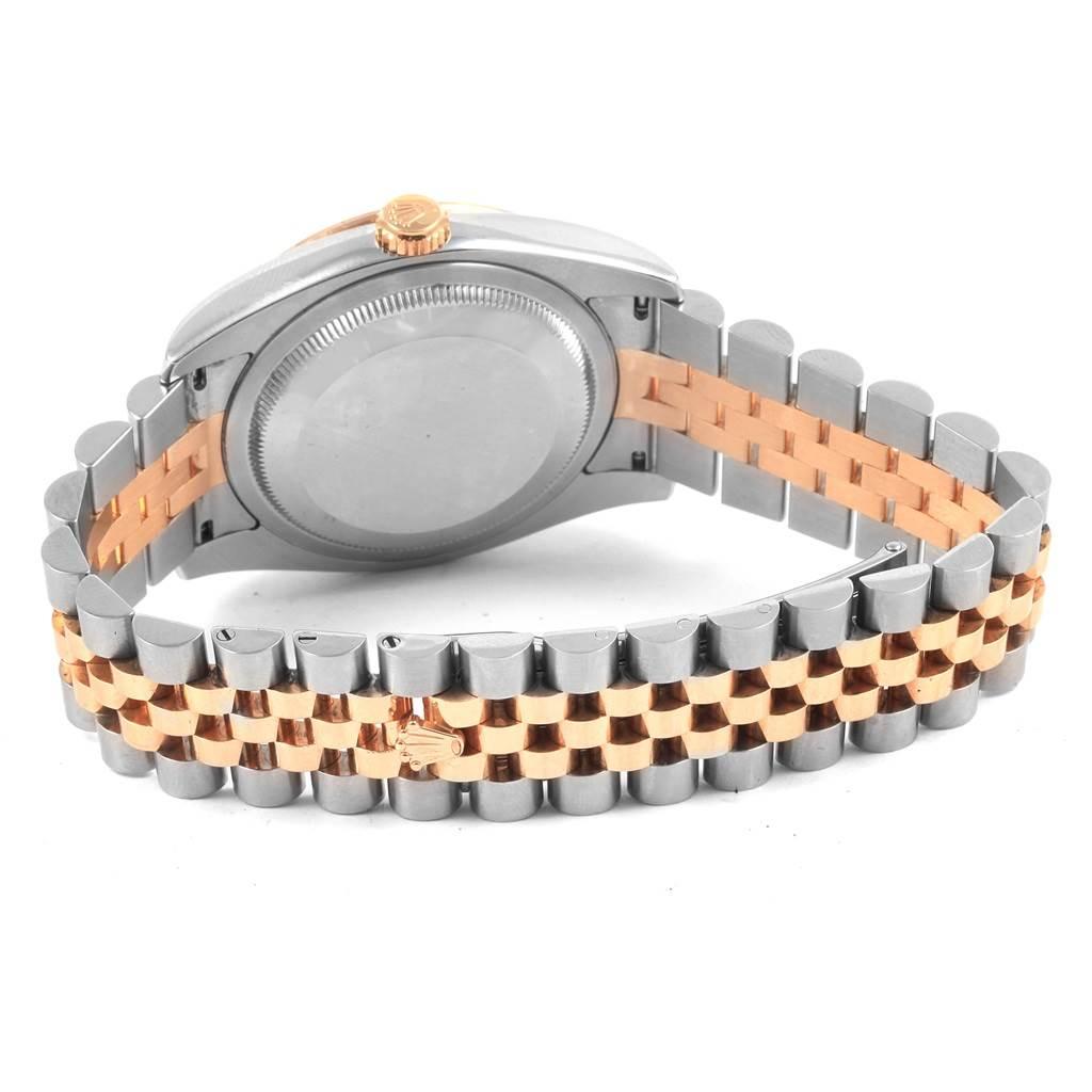21089 Rolex Turnograph Datejust Steel 18K Rose Gold Mens Watch 116261 SwissWatchExpo