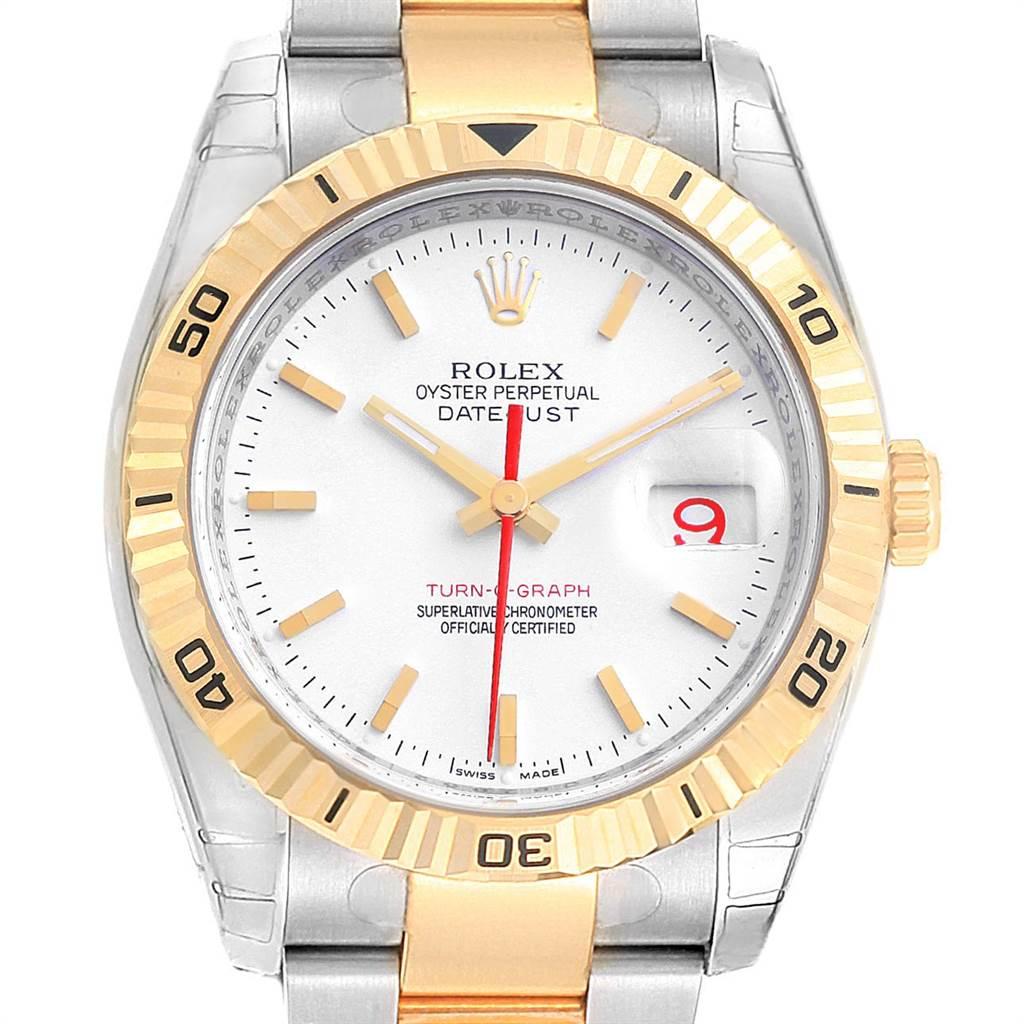 22428 Rolex Datejust Turnograph Steel Yellow Gold Mens Watch 116263 Unworn SwissWatchExpo