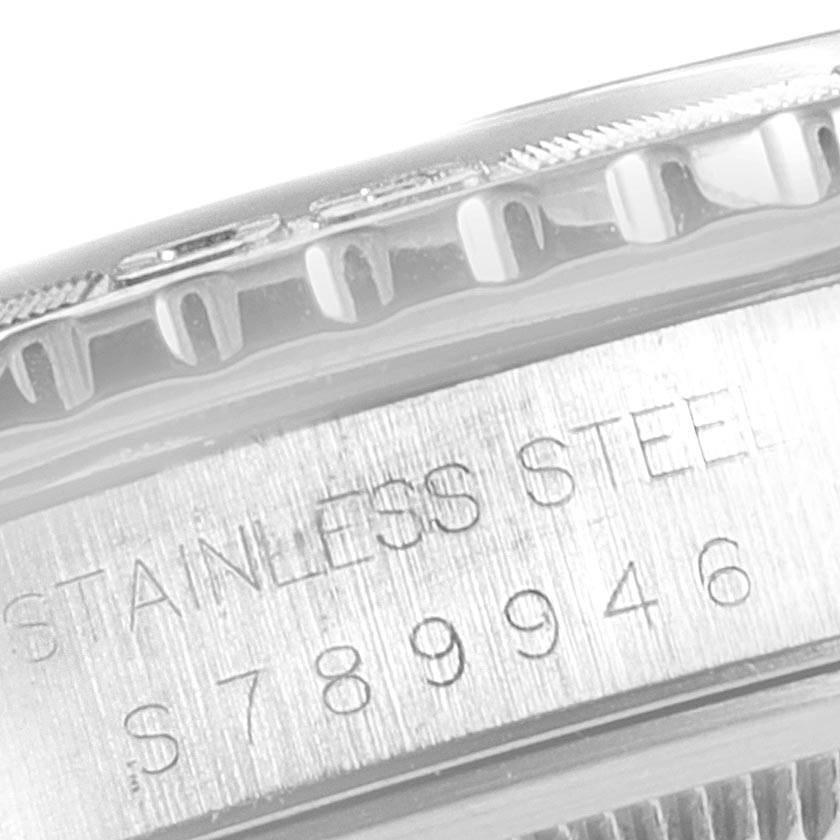 23268 Rolex Turnograph Datejust Steel White Gold Black Dial Mens Watch 16264 SwissWatchExpo